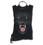 Tribal Panther - 2in1 PU Leather Vest