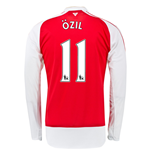 2015-16 Arsenal Home Long Sleeve Shirt (Ozil 11) - Kids