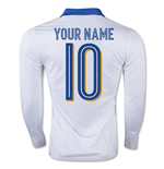 2015-16 Italy Away Shirt Long Sleeve (Your Name)