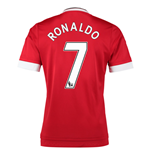 2015-16 Man United Home Shirt (Ronaldo 7) - Kids