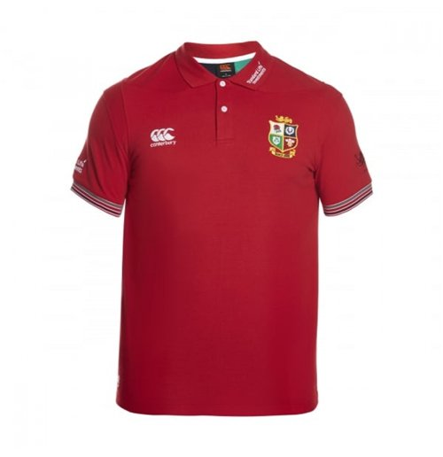 2016-2017 British Irish Lions Rugby Vapodri Cotton Polo Shirt (Red)