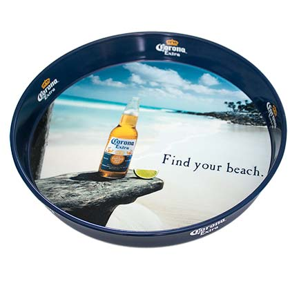 CORONA EXTRA Find Your Beach Metal Serving Tray