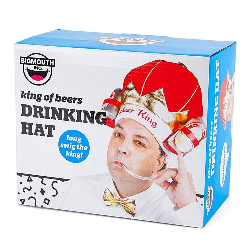 Official Beer King Drinking Hat Buy Online On Offer