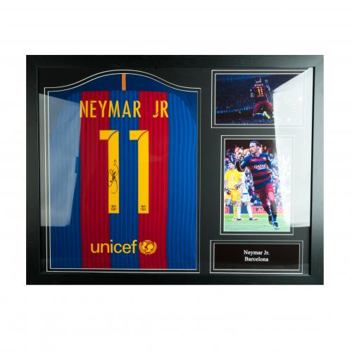 F.C. Barcelona Neymar Signed Shirt (Framed)