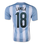 2015-16 Argentina Home Shirt (Lamela 18) - Kids