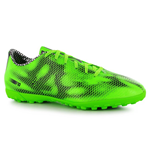 adidas F10 Astroturf Mens Football Boots (Solar Green-White-Black)
