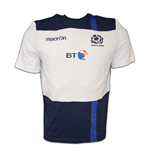 2016-2017 Scotland Macron Travel Cotton T-Shirt (White) - with sponsor