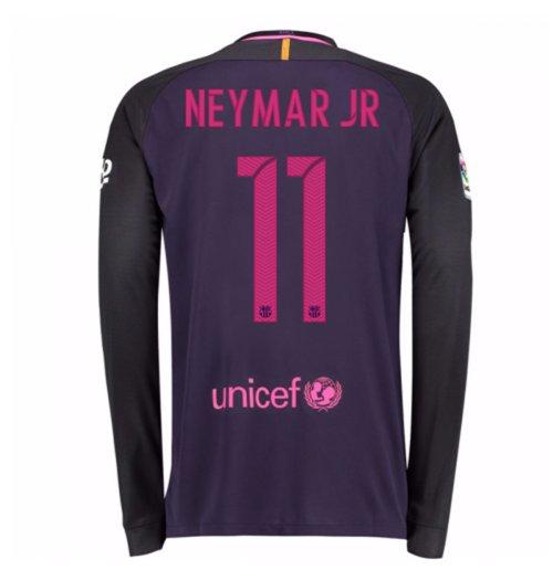 detailed look 80f1d a88dd 2016-17 Barcelona Away Long Sleeve Shirt (Neymar JR 11)