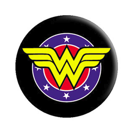 WONDER WOMAN Comic Shield Button