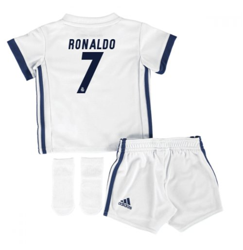 wholesale dealer d887c e7332 2016-17 Real Madrid Home Adidas SMU Mini Kit (Ronaldo 7)