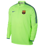 2016-2017 Barcelona Nike Shield Strike Drill Training Top (Ghost Green)