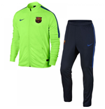 2016-2017 Barcelona Nike Squad Knit Tracksuit (Ghost Green)