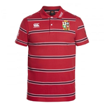 2016-2017 British Irish Lions Rugby Cotton Stripe Polo Shirt (Red)