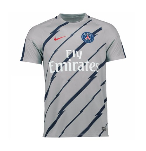 2016 2017 psg nike pre match training shirt wolf grey for only at merchandisingplaza uk. Black Bedroom Furniture Sets. Home Design Ideas