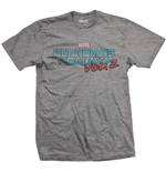 Marvel Comics Men's Tee: Guardians of the Galaxy Vol. 2 Vintage Colour Logo