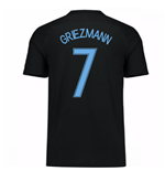 2017-18 France Away Nike Shirt (Black) - Kids (Griezmann 7)