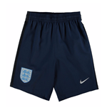 2017-2018 England Nike Away Shorts (Navy) - Kids