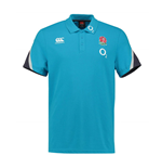 2017-2018 England Rugby Cotton Training Polo Shirt (Arctic)