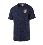 2017-2018 Italy Azzurri Badge Tee (Peacot Heather)