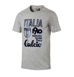 2017-2018 Italy Azzurri Calcio Tee (Light Grey Heather)