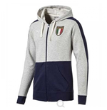 2017-2018 Italy Azzurri Zipthrough Hoody (Light Grey)