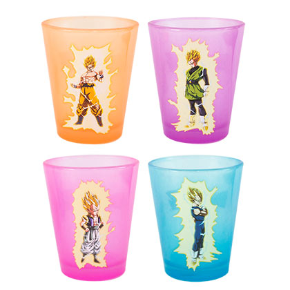 Dragonball Z Glow In The Dark Shot Glass Set