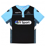 2016-2017 Glasgow Warriors Rugby Warm Up Jersey (Black) - Kids