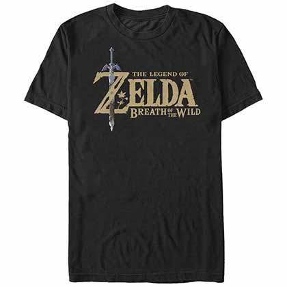 NINTENDO Legend of Zelda Breath Logo Black T-Shirt