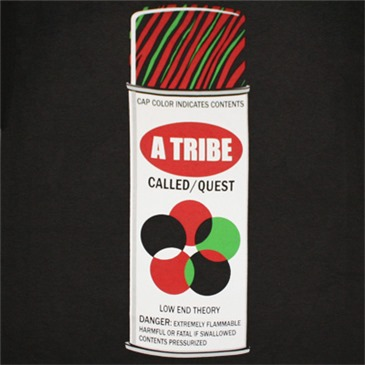 A TRIBE CALLED QUEST Spray Can Black Graphic TShirt