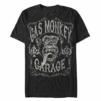 GAS MONKEY GARAGE Vintage Monkey Black T-Shirt