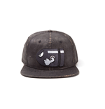 NINTENDO Super Mario Bros. Bullet Bill Weathered Snapback Baseball Cap, Dark Grey
