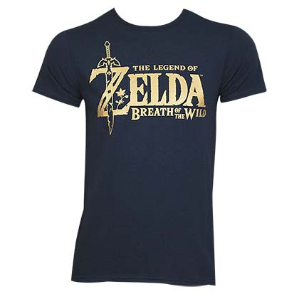 The LEGEND OF ZELDA Breath Of The Wild Metallic Logo Tee Shirt