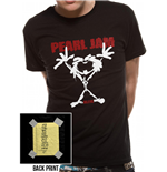 Pearl Jam - Stickman T-Shirt Black Ex Large - Unisex T-shirt Black