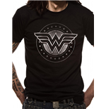 Wonder Woman Movie - Chrome Logo - Unisex T-shirt Black