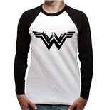 Wonder Woman Movie - Black Logo - Unisex Baseball Shirt White