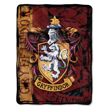 HARRY POTTER Gryffindor Plush Throw Blanket