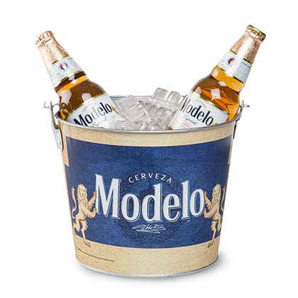 Modelo Beer Bucket With Built In Bottle Opener