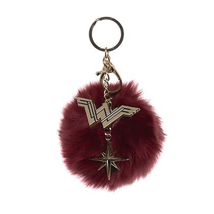 WONDER WOMAN Fluffy Keychain