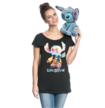 Lilo & Stitch Ladies T-Shirt On The Beach