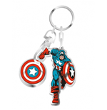 Marvel  - Captain America Keyring On Backing Card Boxed