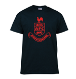 Airdrieonians Core Logo T-Shirt (Black)