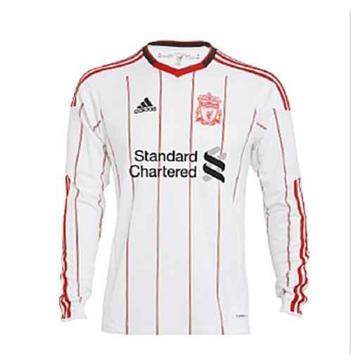 2010-11 Liverpool Adidas Long Sleeve Away Shirt (Kids)
