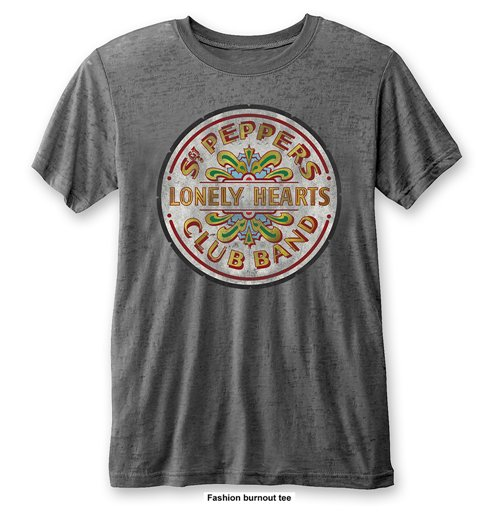 The Beatles Men's Fashion Tee: Sgt Pepper Drum