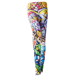NINTENDO Legend of Zelda Windwaker HD Women's All-over Link Print Leggings, Large, Multi-colour