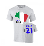Italy 2014 Country Flag T-shirt (pirlo 21)