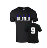 Mario Balotelli Front Name T-shirt (black)