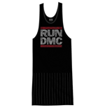 Run DMC Ladies Tee Dress: Logo Vintage with Tassels