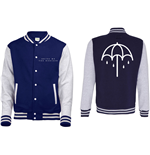Bring Me The Horizon Men's Varsity Jacket: Umbrella with Back Printing