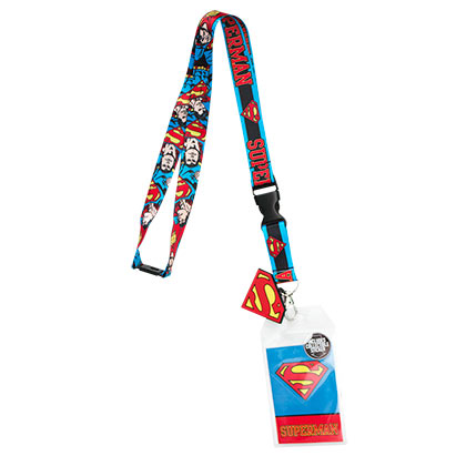 SUPERMAN Comic Keychain Lanyard