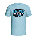Lionel Messi Comic Book T-shirt (sky Blue) - Kids